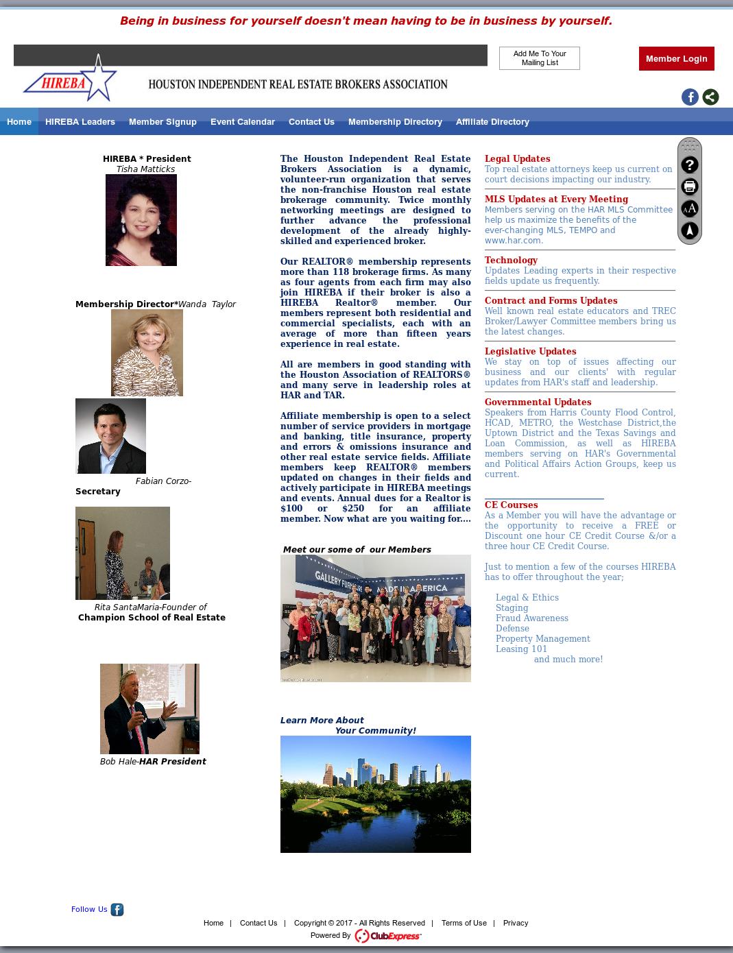 Hireba - Houston Independent Real Estate Brokers Association