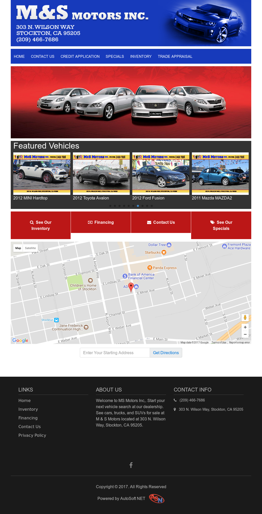 M&s Motors website history