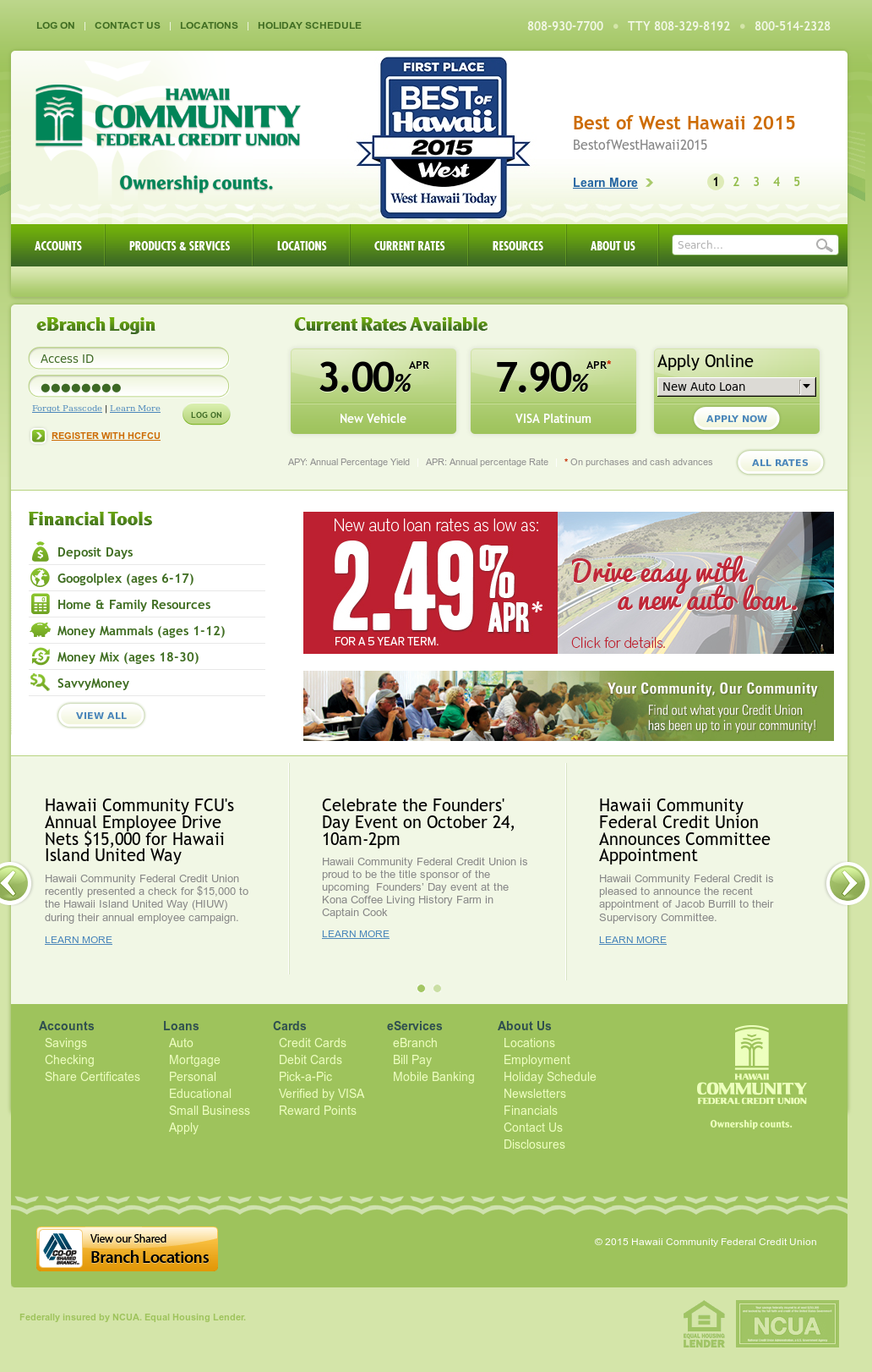Hawaii Community Federal Credit Union Competitors Revenue And