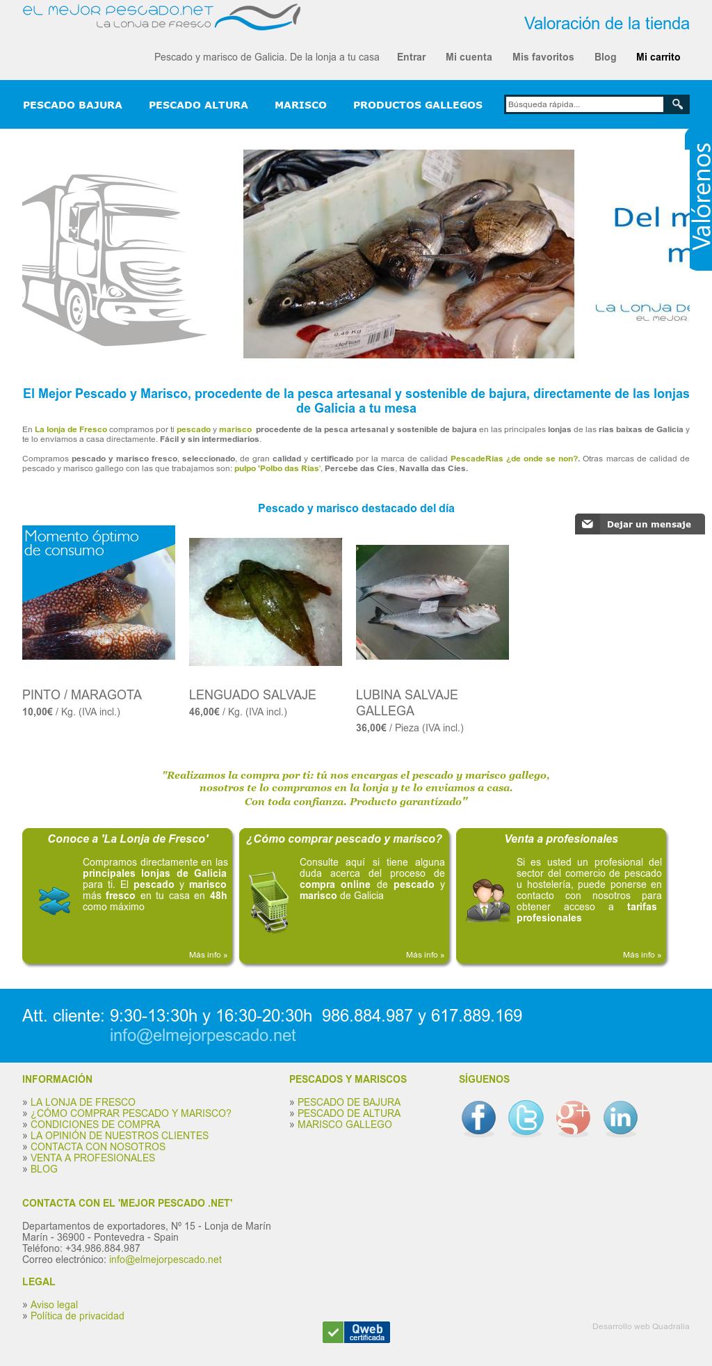 Comprar pescado gallego online dating