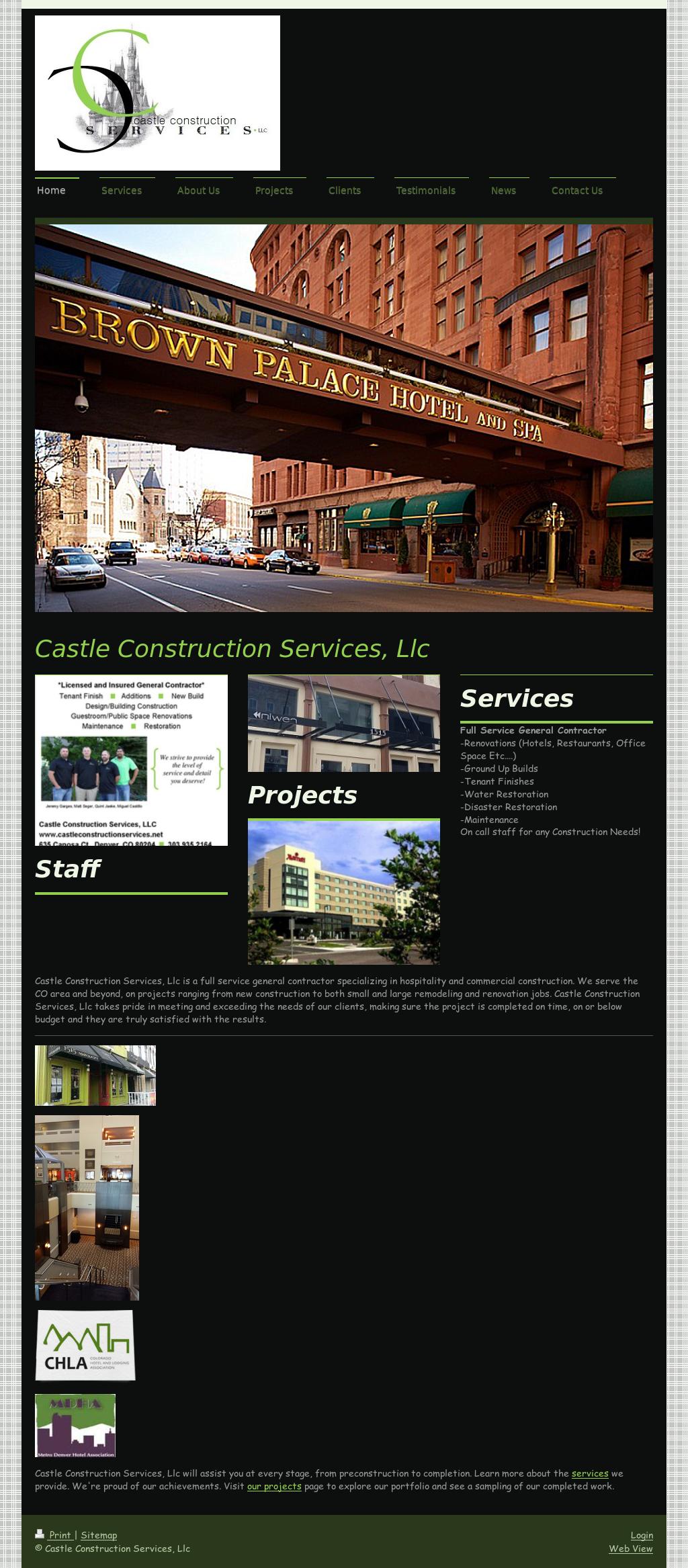 Castle Construction Services Competitors, Revenue and