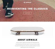 Airwalk website history