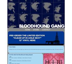 Blood Hound Gang website history