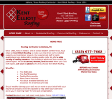 Kent Elliott Roofing Website History