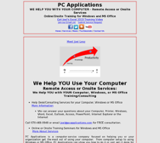 PC Applications website history