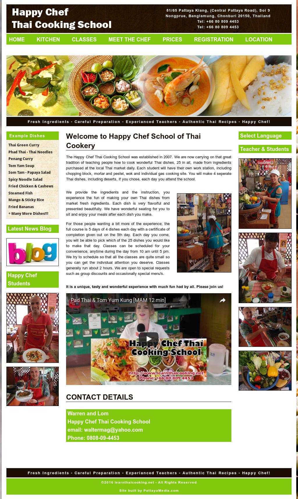 Happy Chef Thai Cooking School Competitors, Revenue and