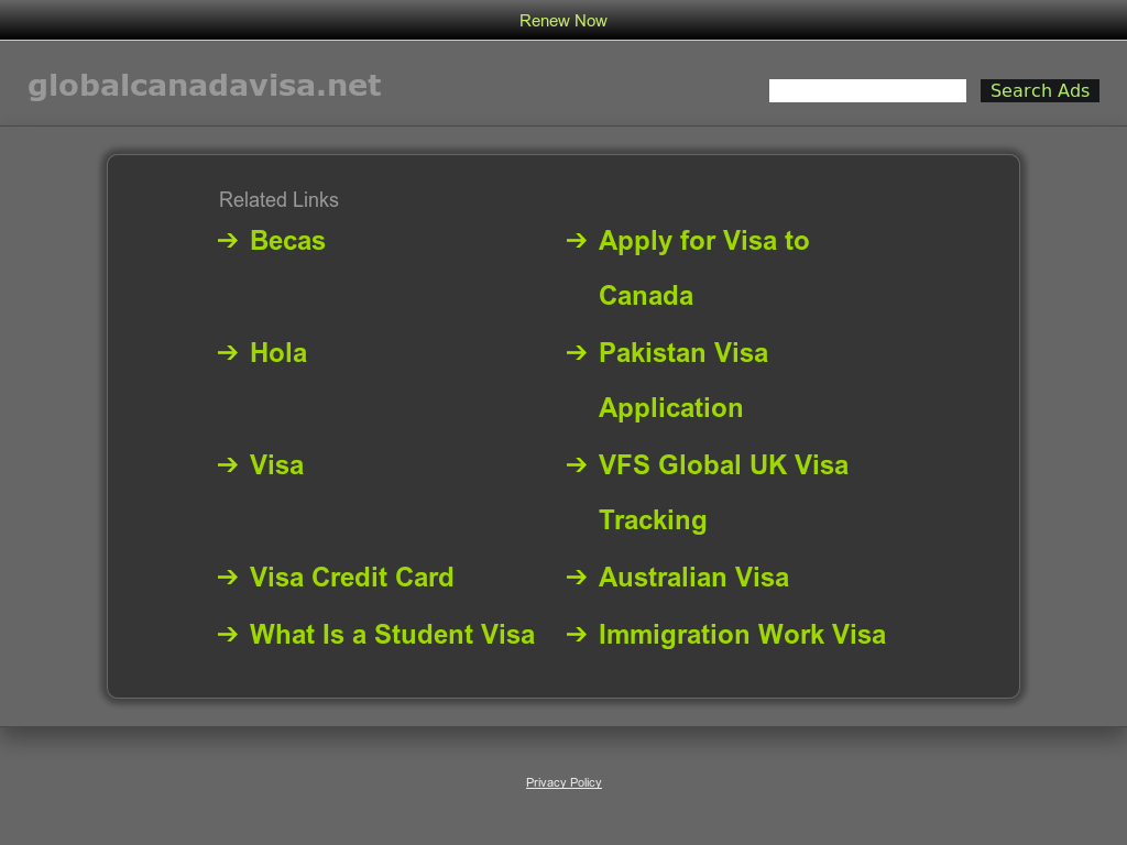 Global Canada Visa Competitors, Revenue and Employees