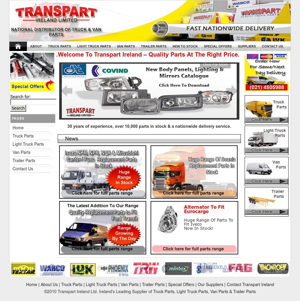 Transpart Ireland Ltd. Irelandu0027s Leading Supplier Of Truck Parts, Light  Truck Parts, Van