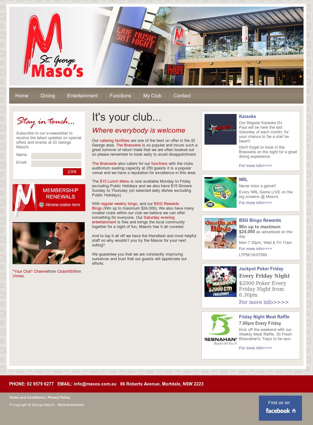 St George Maso's - The Maso's Competitors, Revenue and