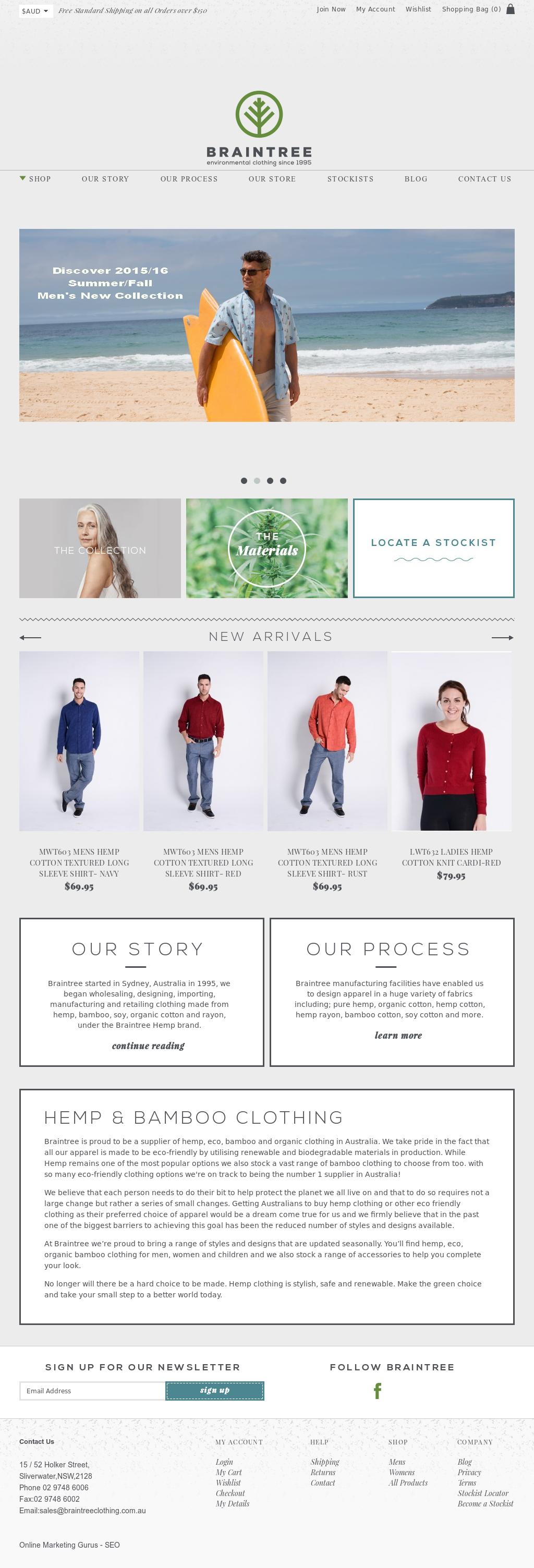 Braintree Hemp Environmental Clothing Competitors, Revenue