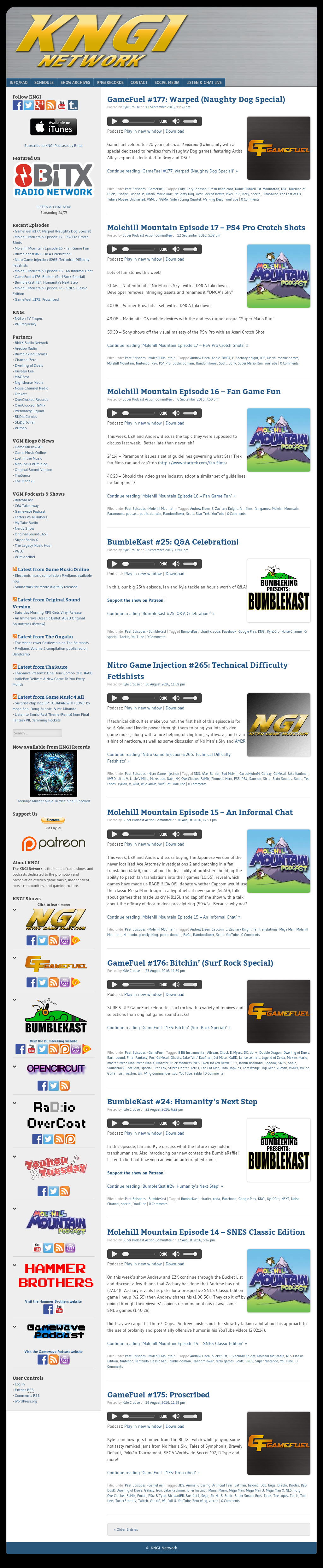 Kngi Video Game Music Podcast Network Competitors, Revenue