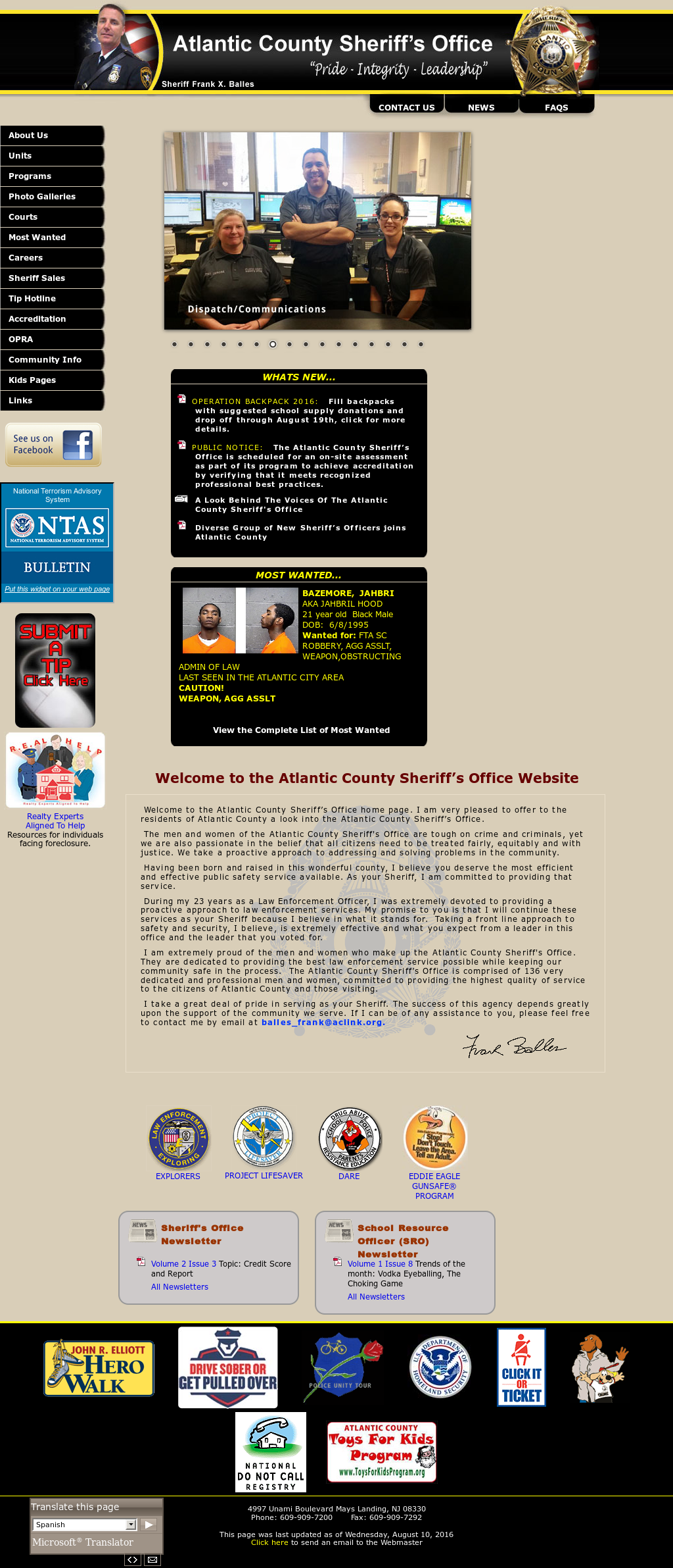 Atlantic County Sheriff's Office Competitors, Revenue and Employees