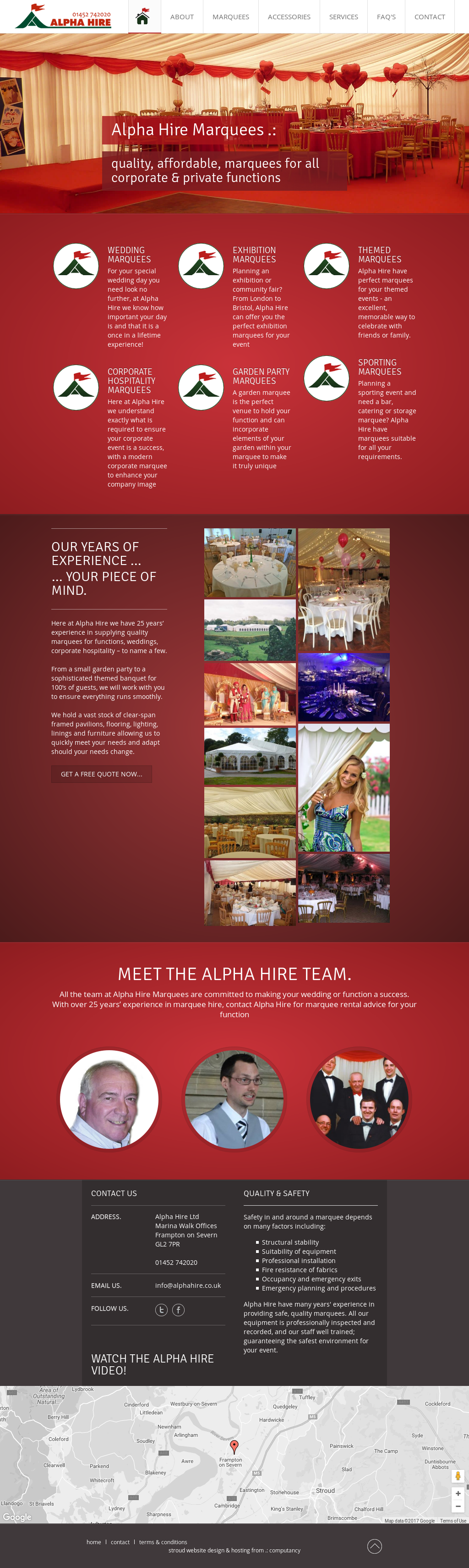 Alpha Hire Marquees Competitors, Revenue and Employees