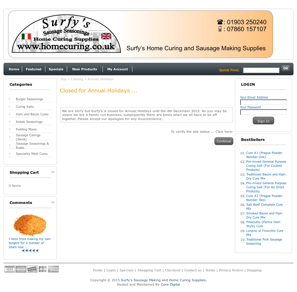 Surfy's Sausage Making And Home Curing Supplies Competitors