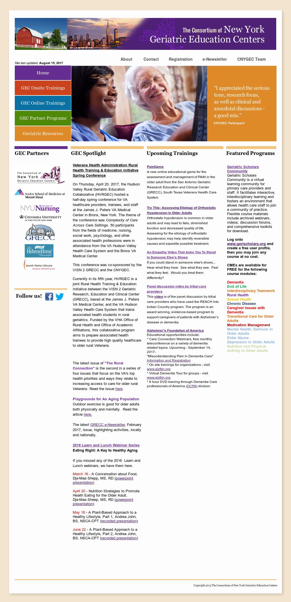 the consortium of new york geriatric education centers competitors