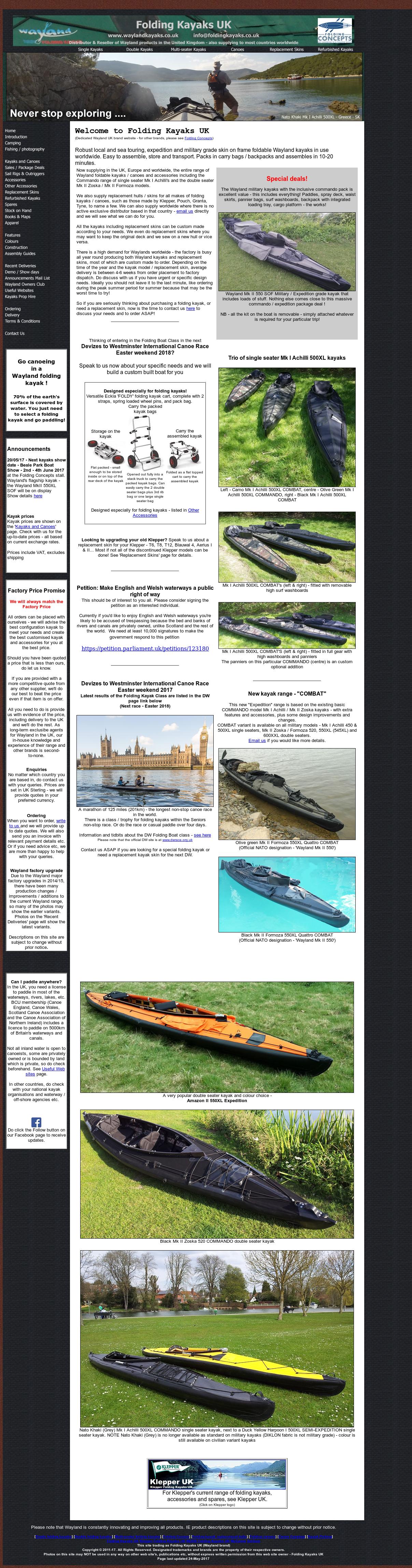 Wayland Folding Kayaks Uk Competitors, Revenue and Employees - Owler