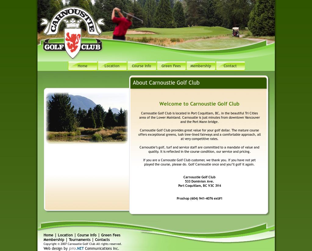 Carnoustie Golf Club Competitors