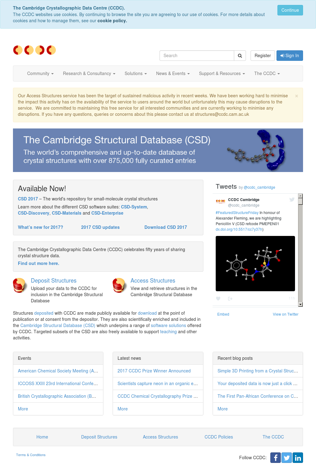 Cambridge Crystallographic Data Centre (Ccdc) Competitors