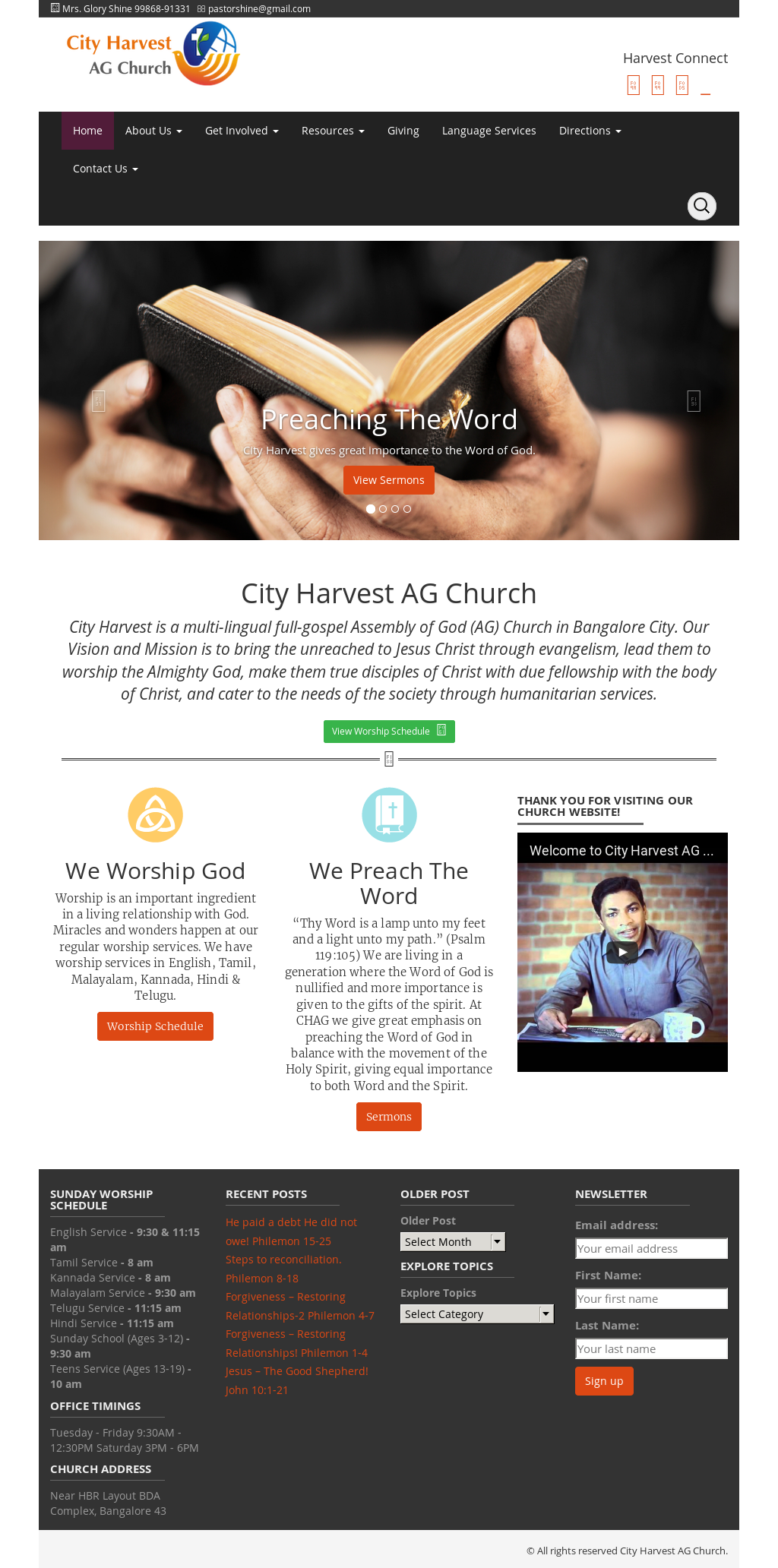City Harvest Ag Church Competitors, Revenue and Employees