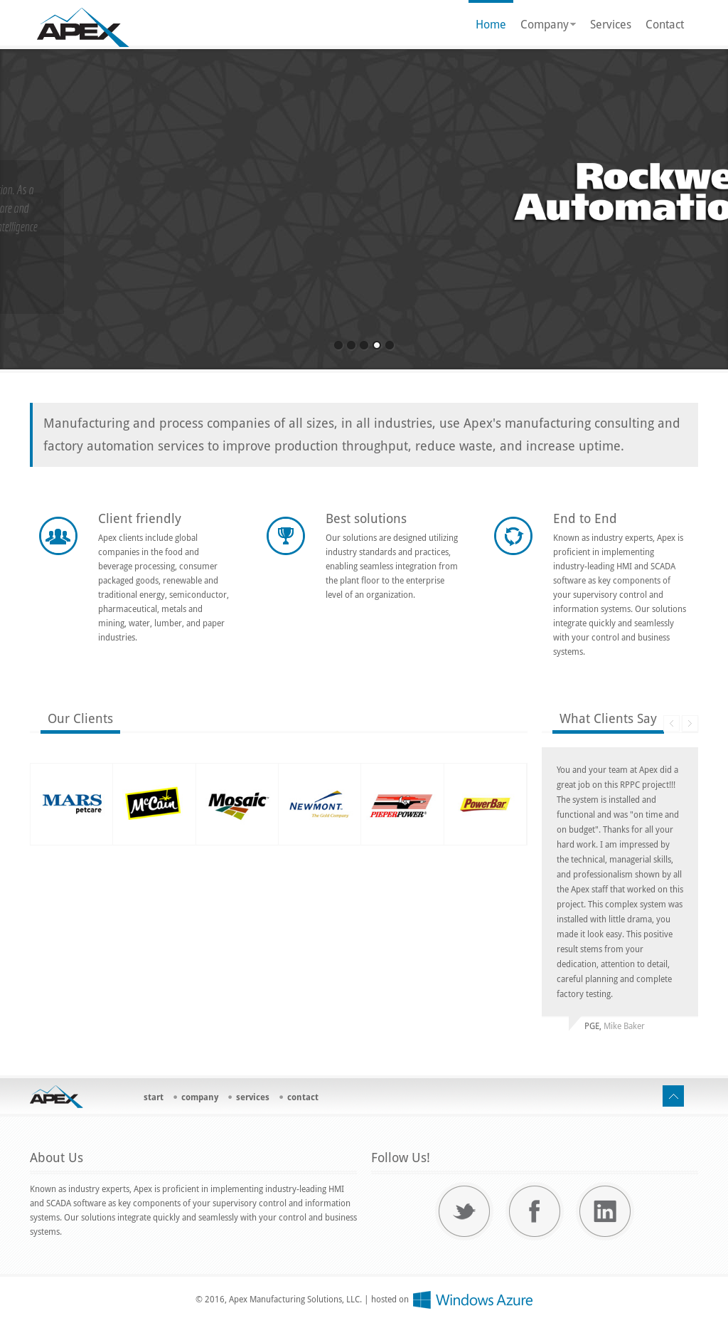 Apex Manufacturing Solutions Competitors, Revenue and
