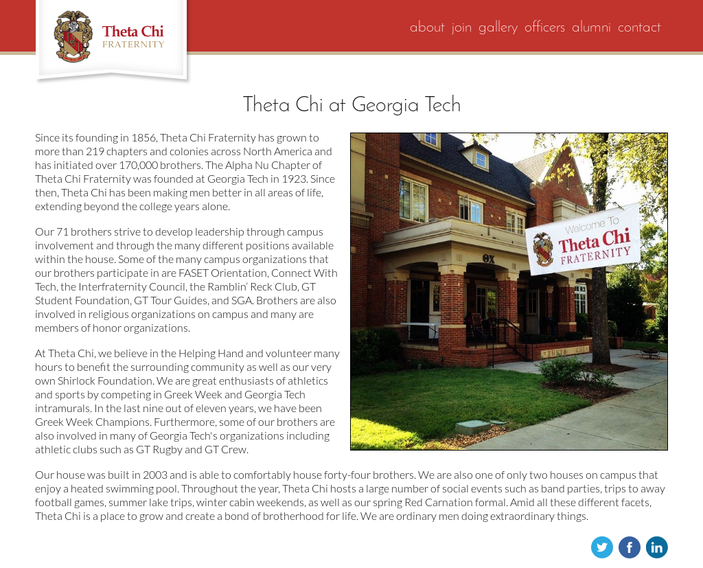 Theta Chi Fraternity Competitors, Revenue and Employees
