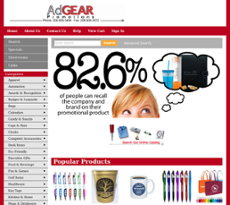 AdGEAR Promotions website history
