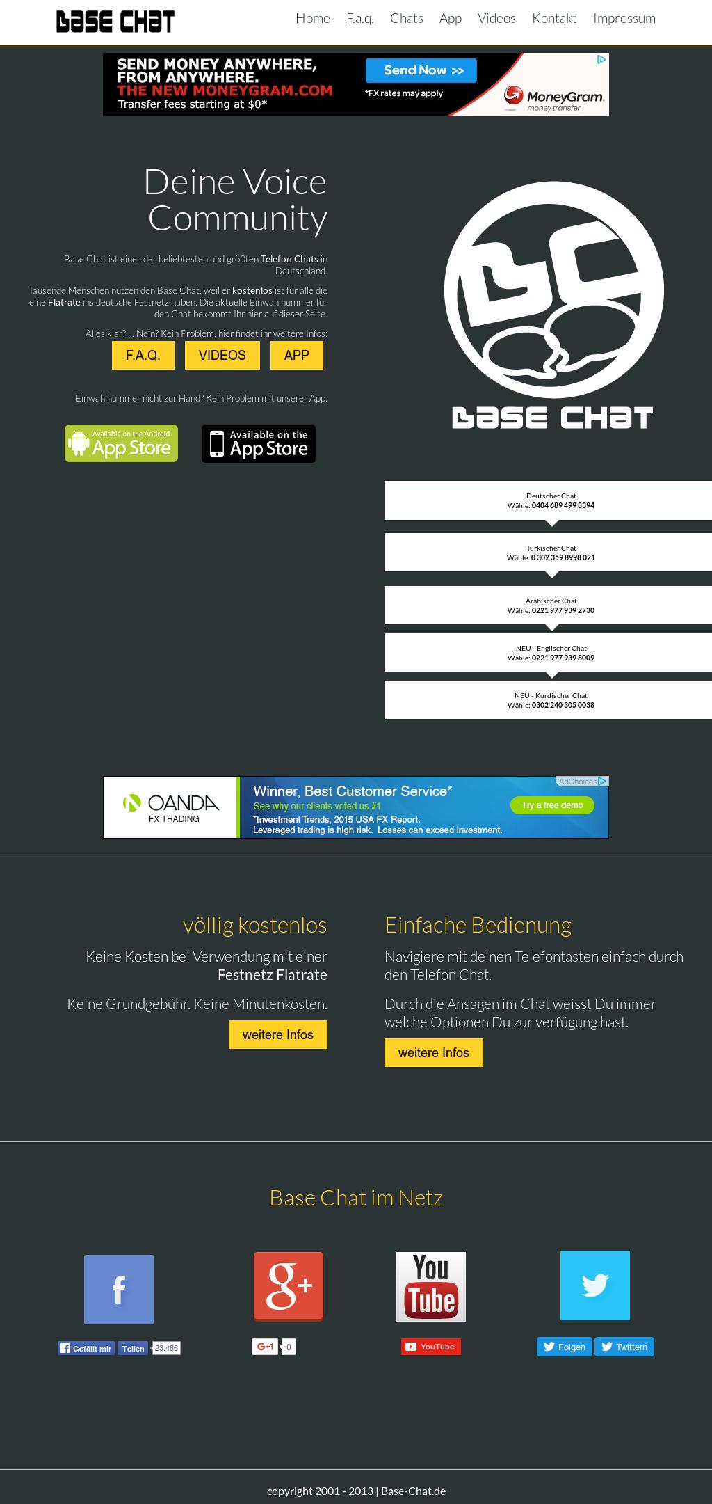 neue base chat nummer