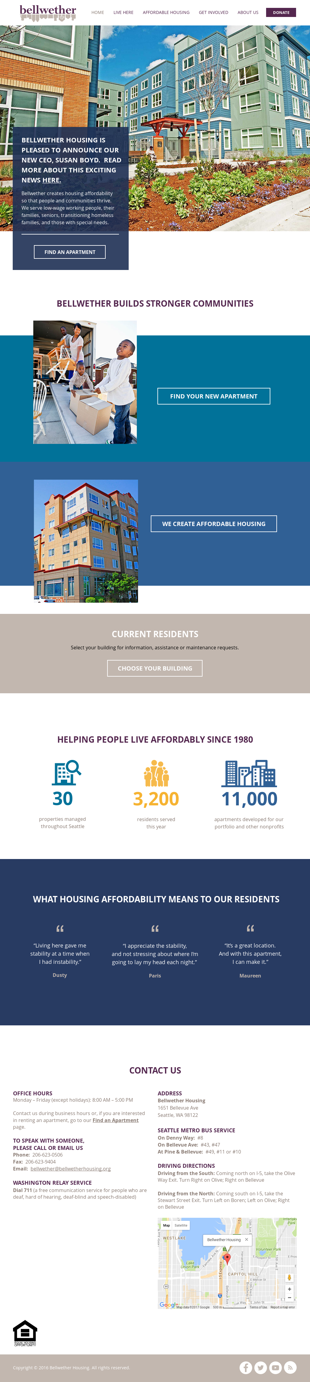 Bellwether Housing Website History