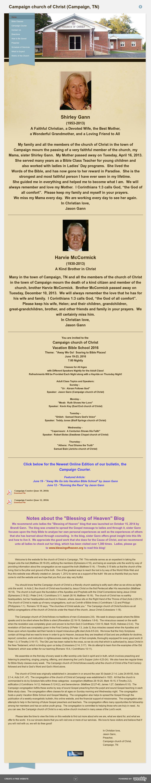 Campaign Church Of Christ - Campaign, Tn Competitors, Revenue and