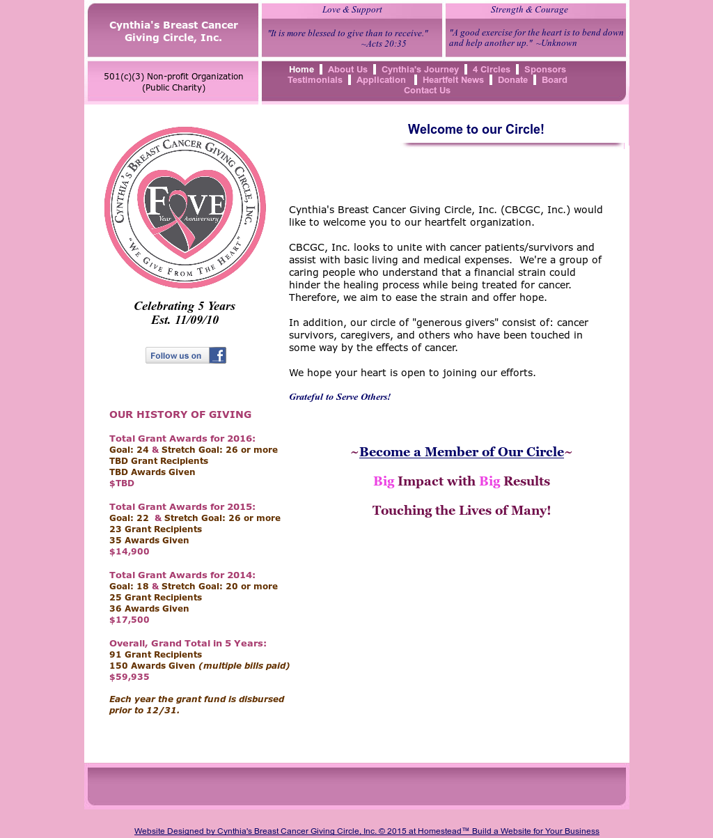 breast cancer website