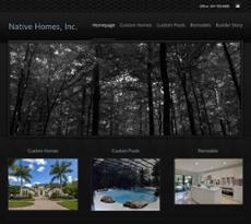 Native Homes website history