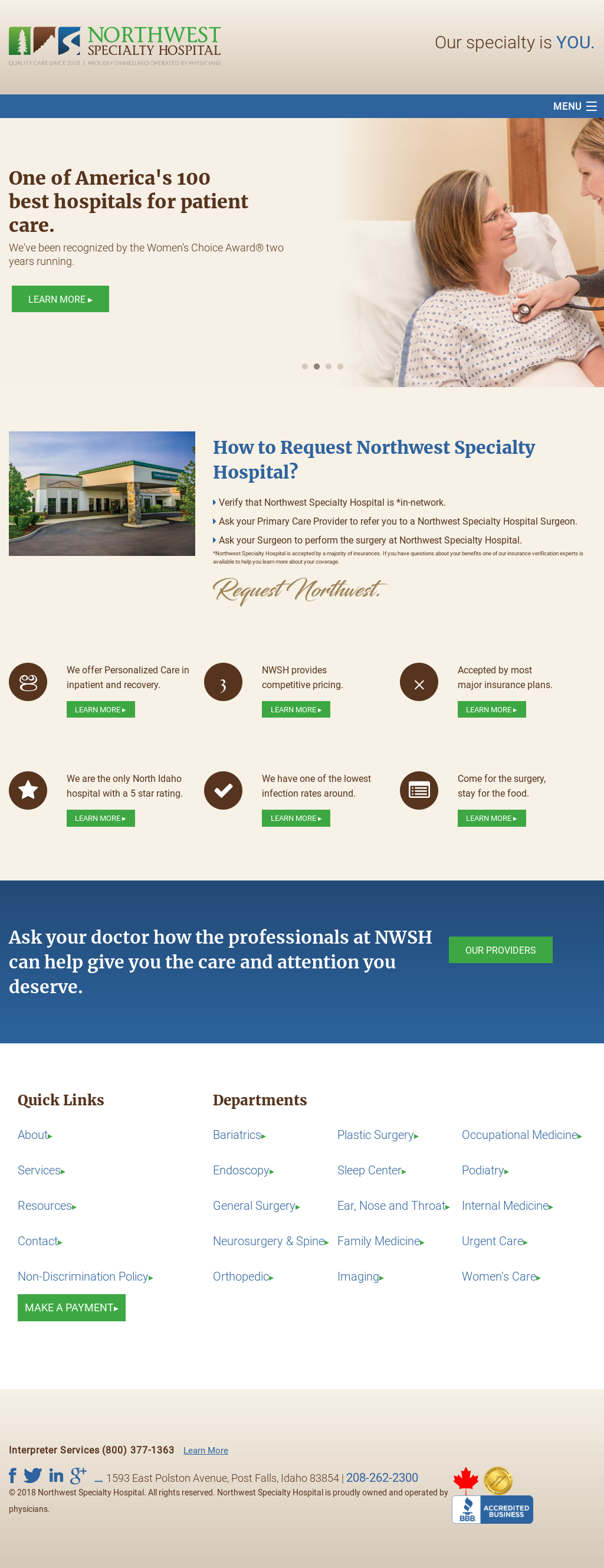 Northwest Specialty Hospital Competitors Revenue And Employees Owler Company Profile