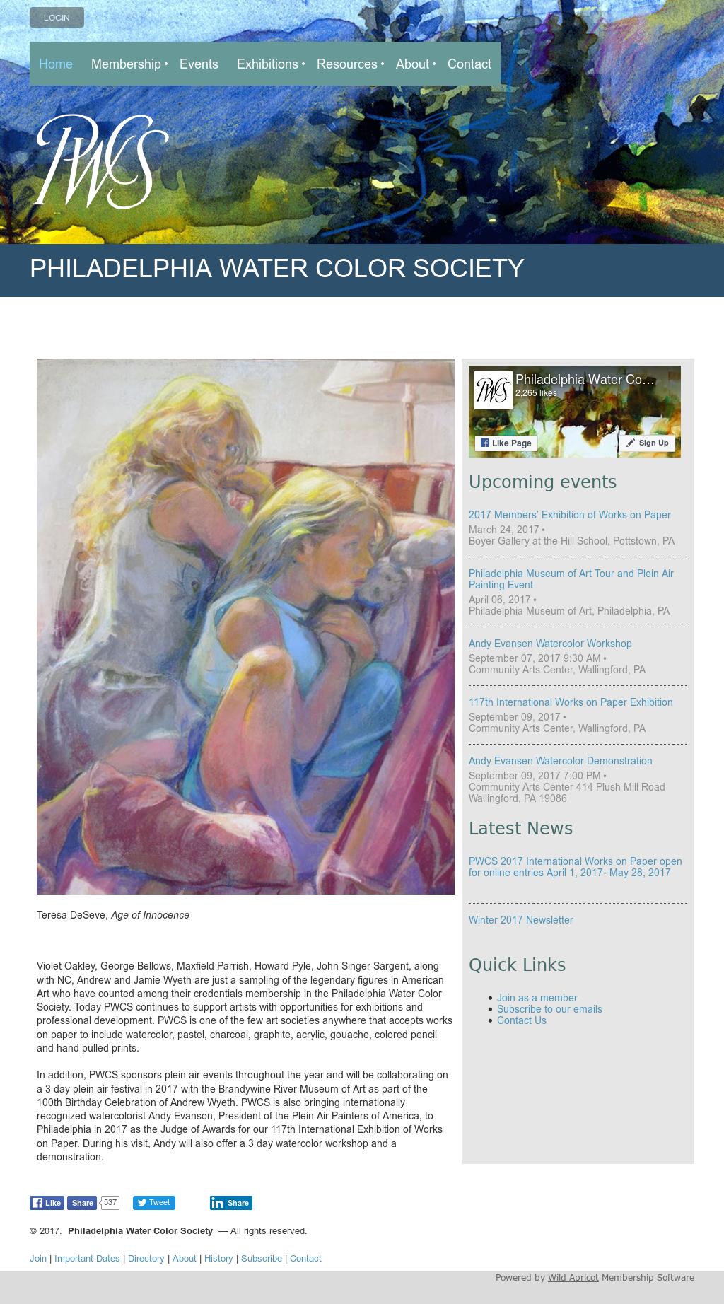 Philadelphia Water Color Society Competitors, Revenue and