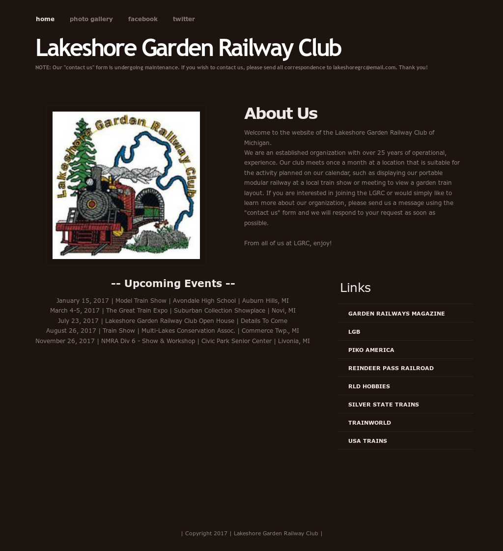 Lakeshore Garden Railway Club Competitors, Revenue and