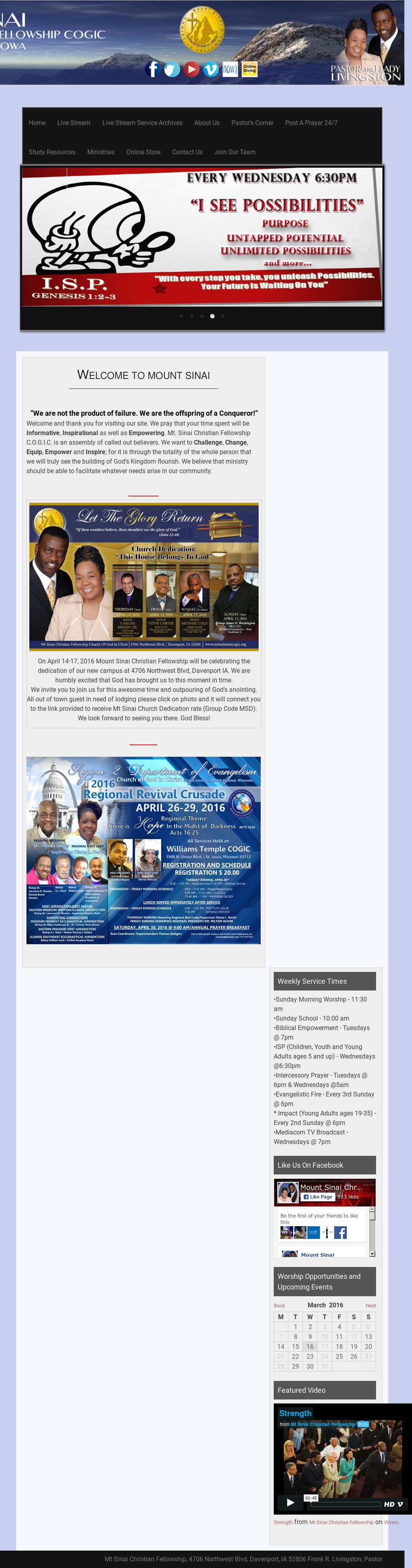 Mount Sinai Christian Fellowship Cogic Competitors, Revenue
