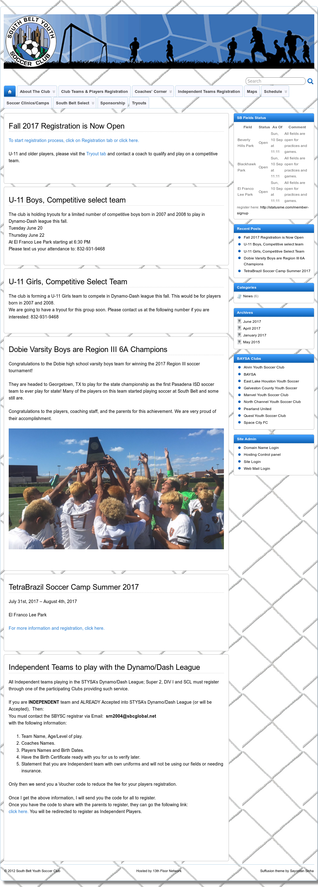 South Belt Youth Soccer Club Competitors, Revenue and