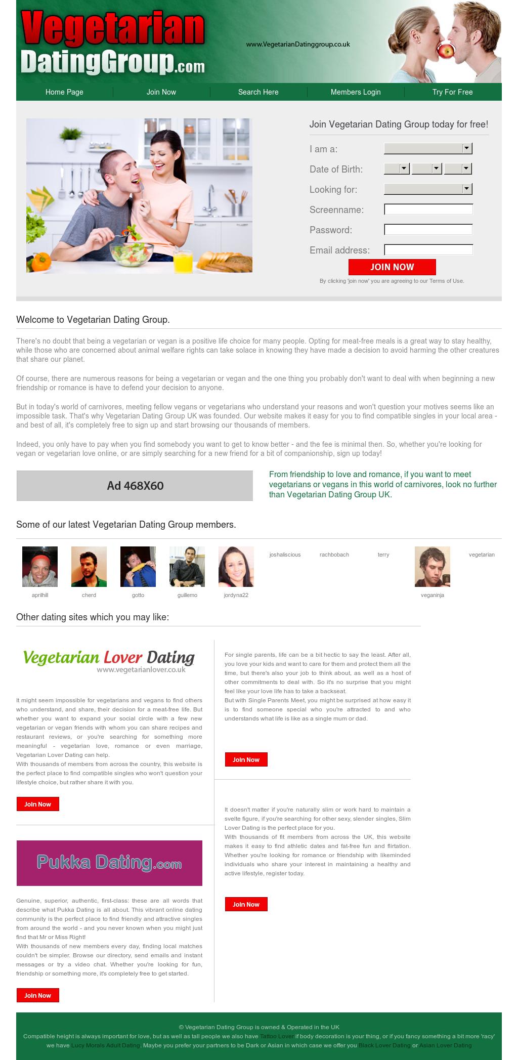 vegetarian dating websites uk