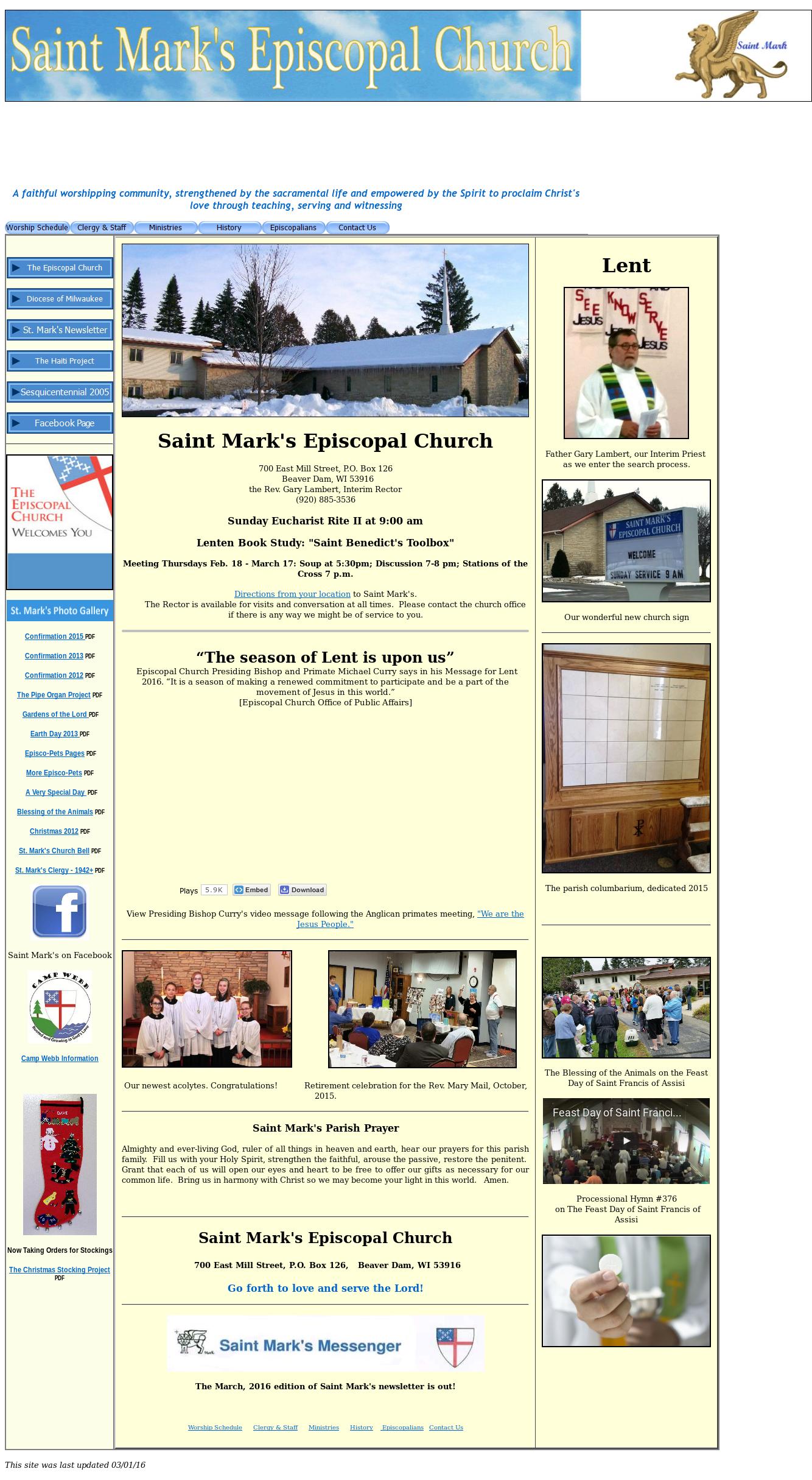Saint Mark's Episcopal Church, Beaver Dam, Wi Competitors, Revenue