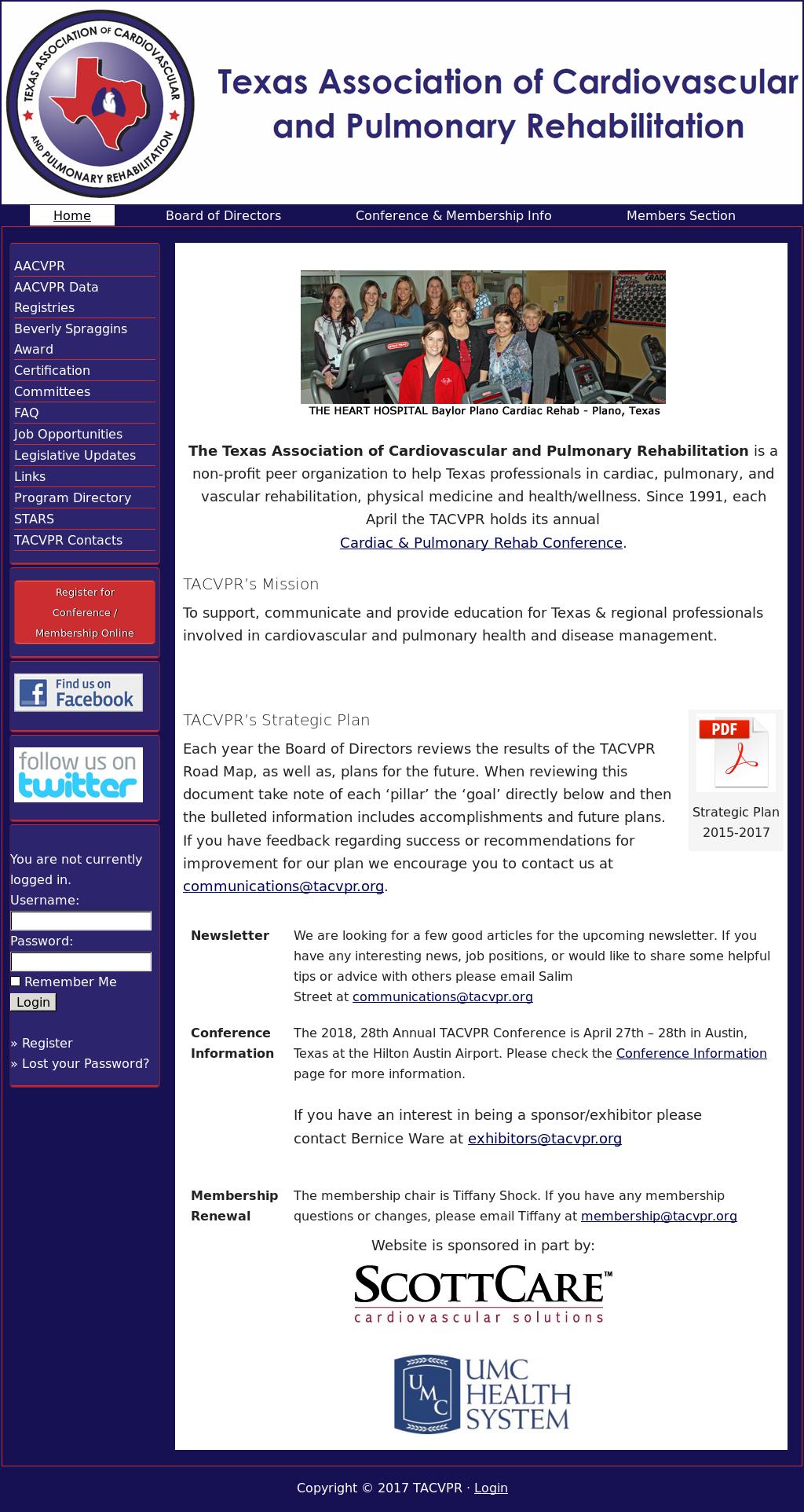 texas association of cardiovascular and pulmonary rehabilitation