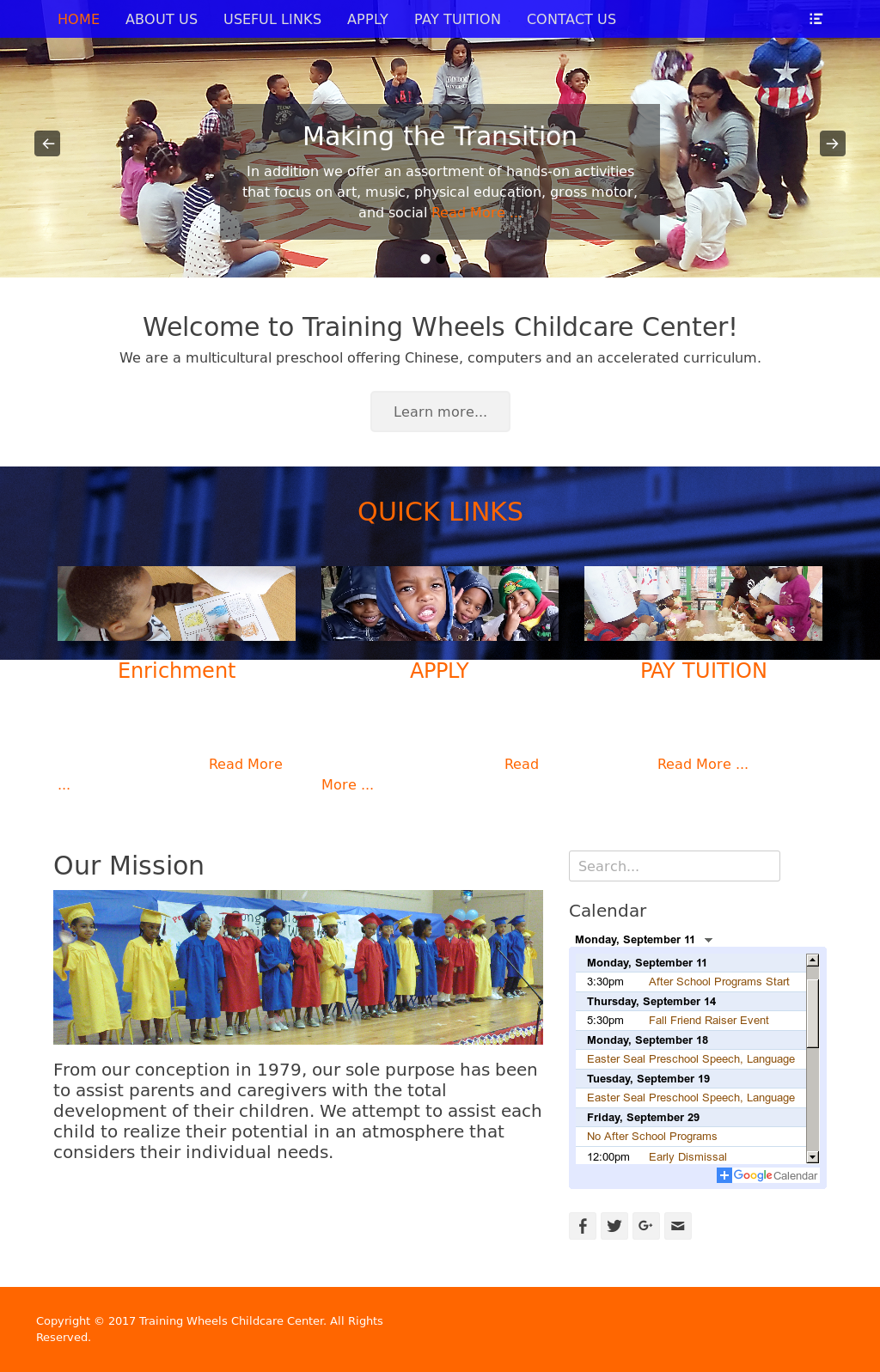 Training Wheels Childcare Center Competitors, Revenue and Employees