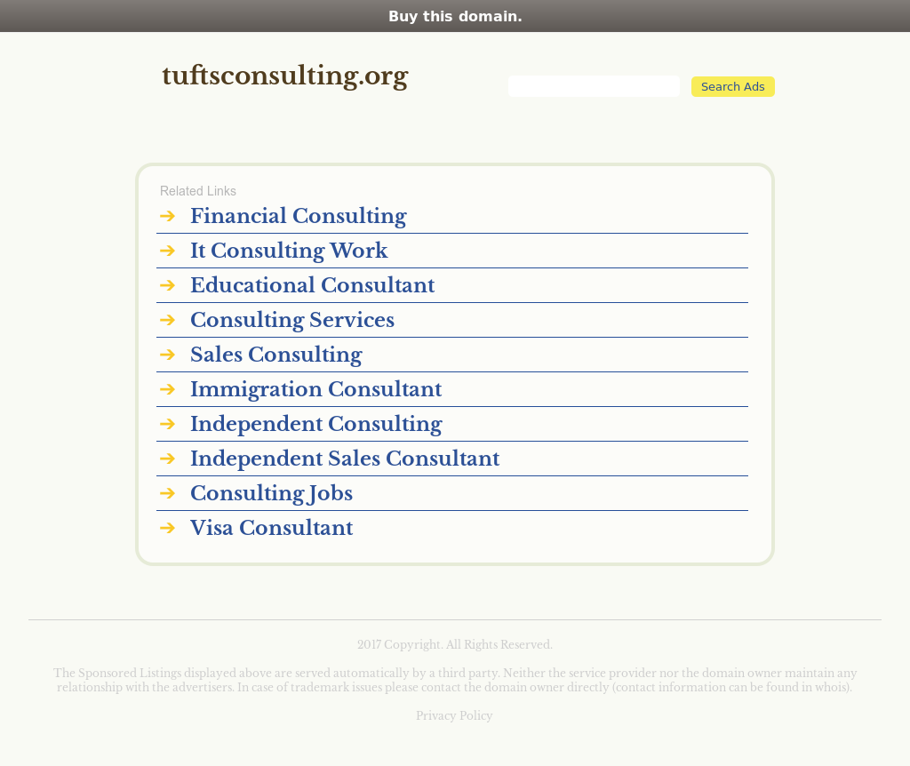 Tufts Consulting Collective Competitors, Revenue and