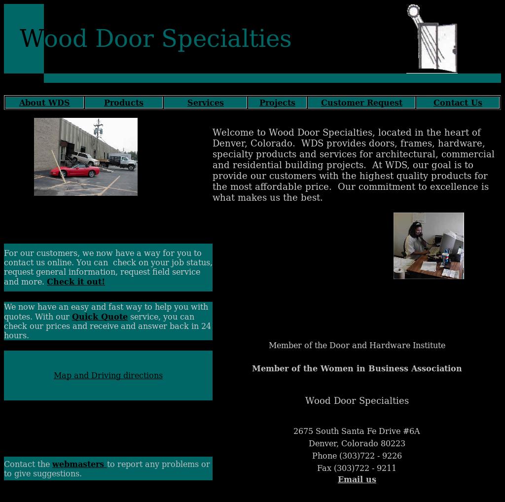 Wood Door Specialties Website History