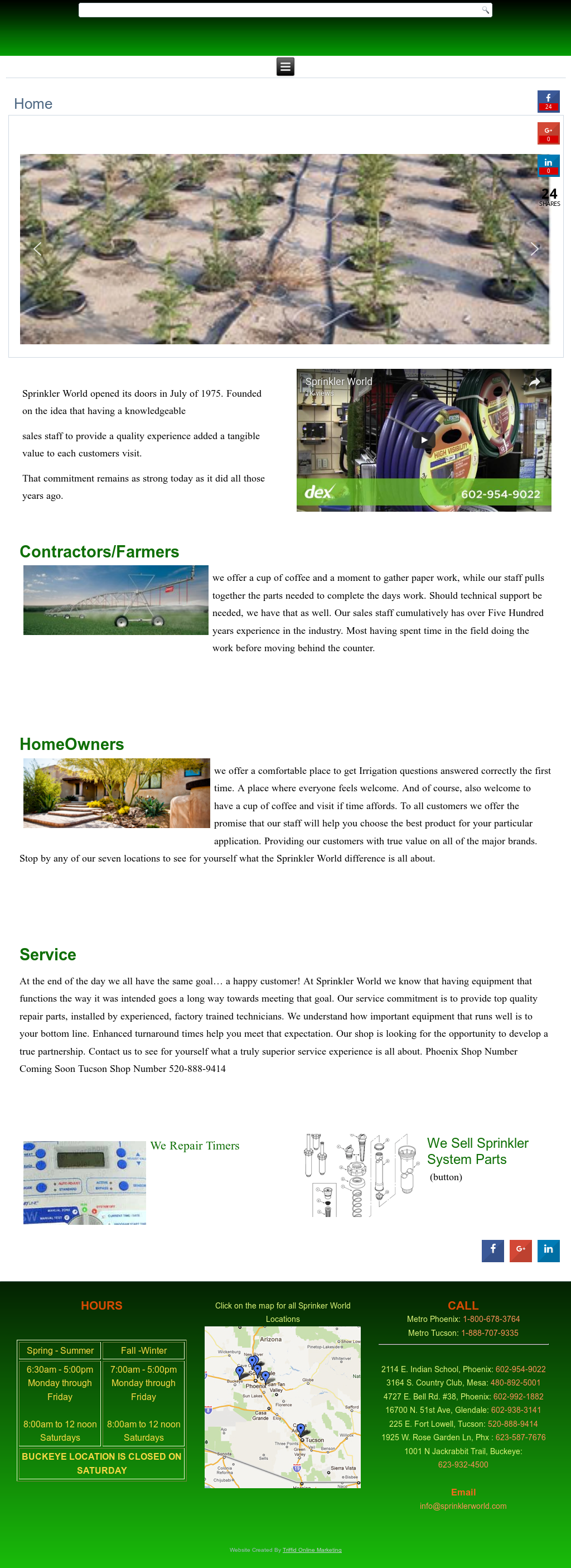 Sprinkler World Compeors Revenue