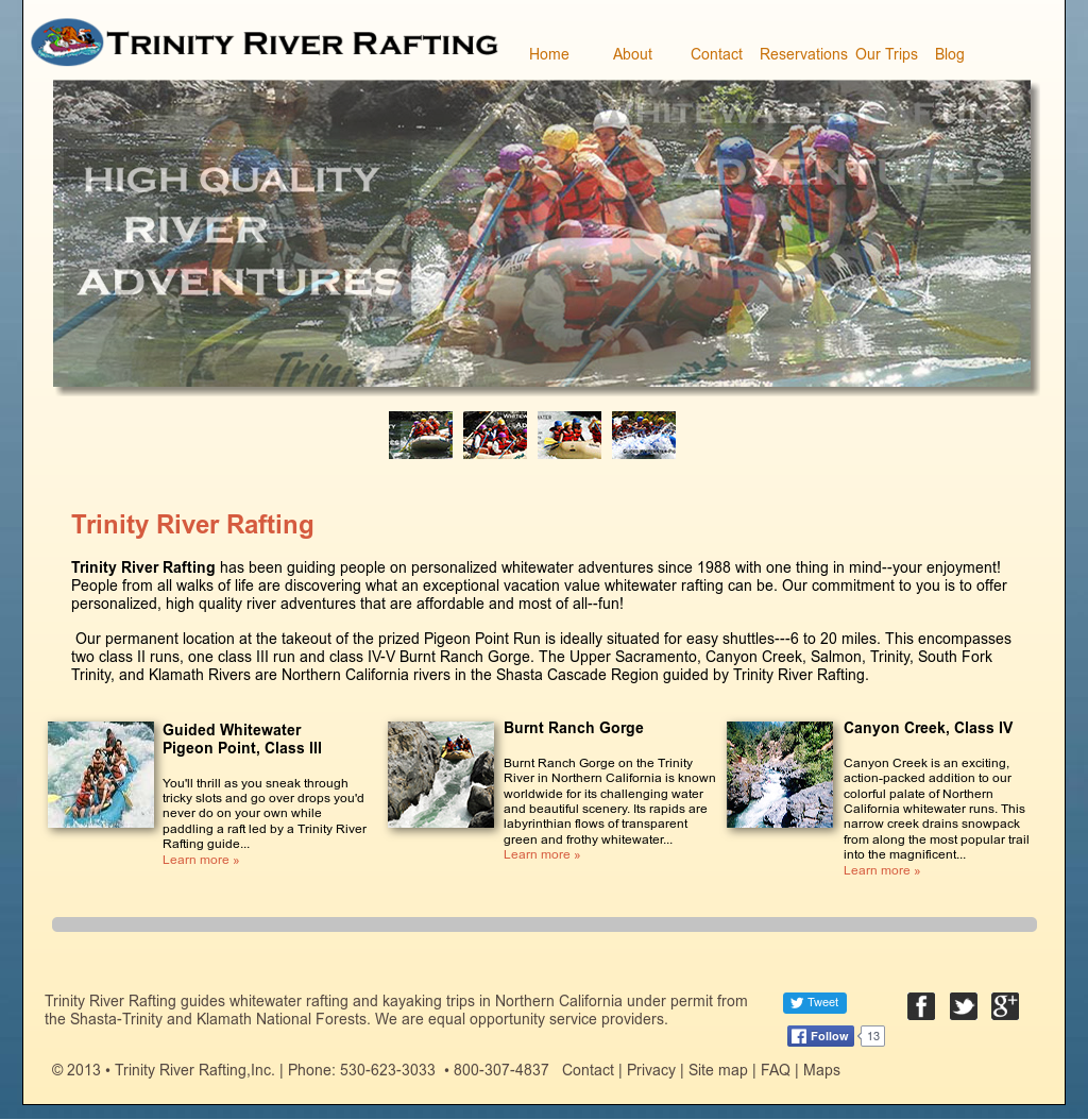 Trinity River Rafting Competitors, Revenue and Employees