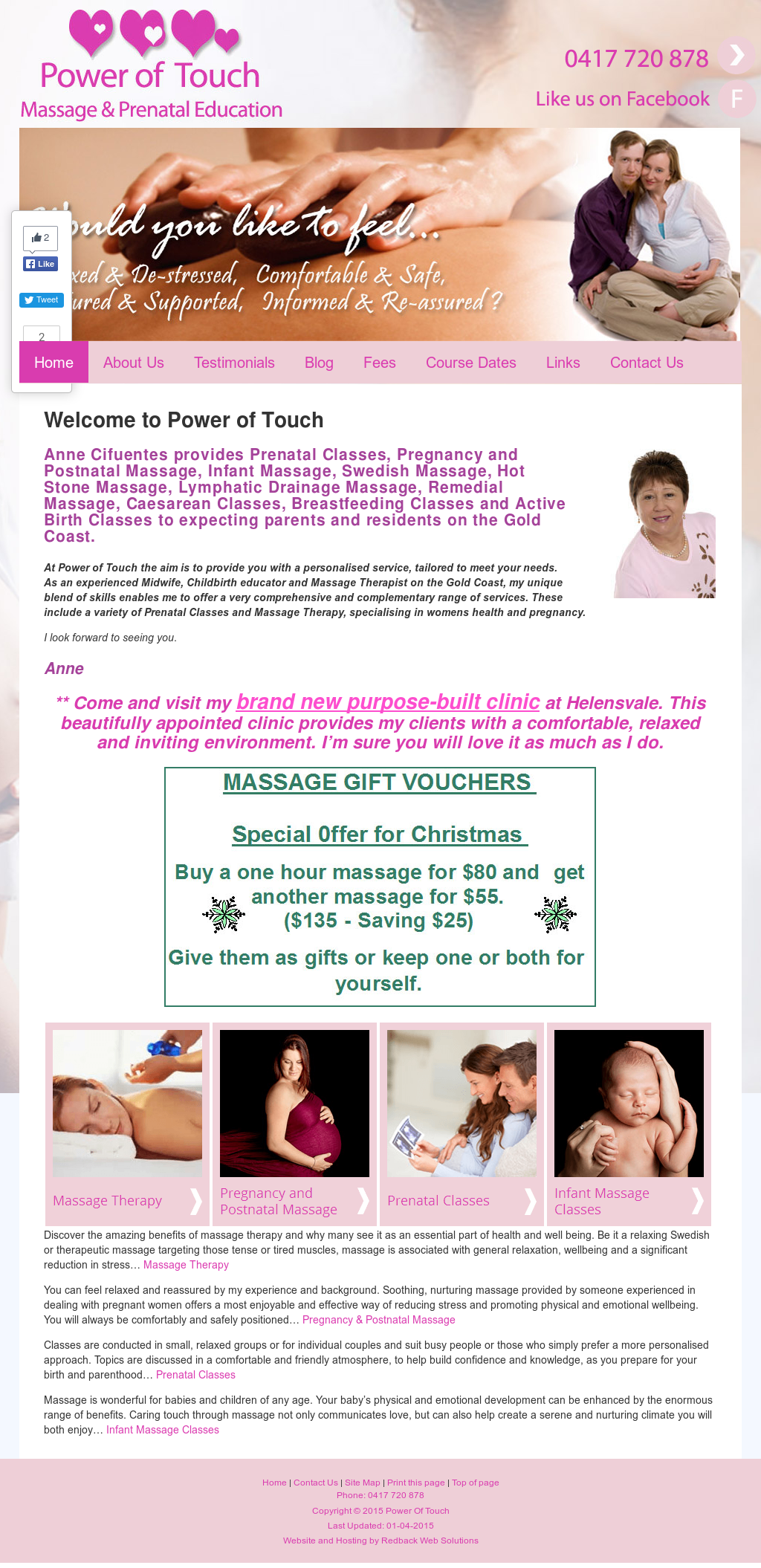 Power Of Touch - Massage And Prenatal Education Competitors, Revenue