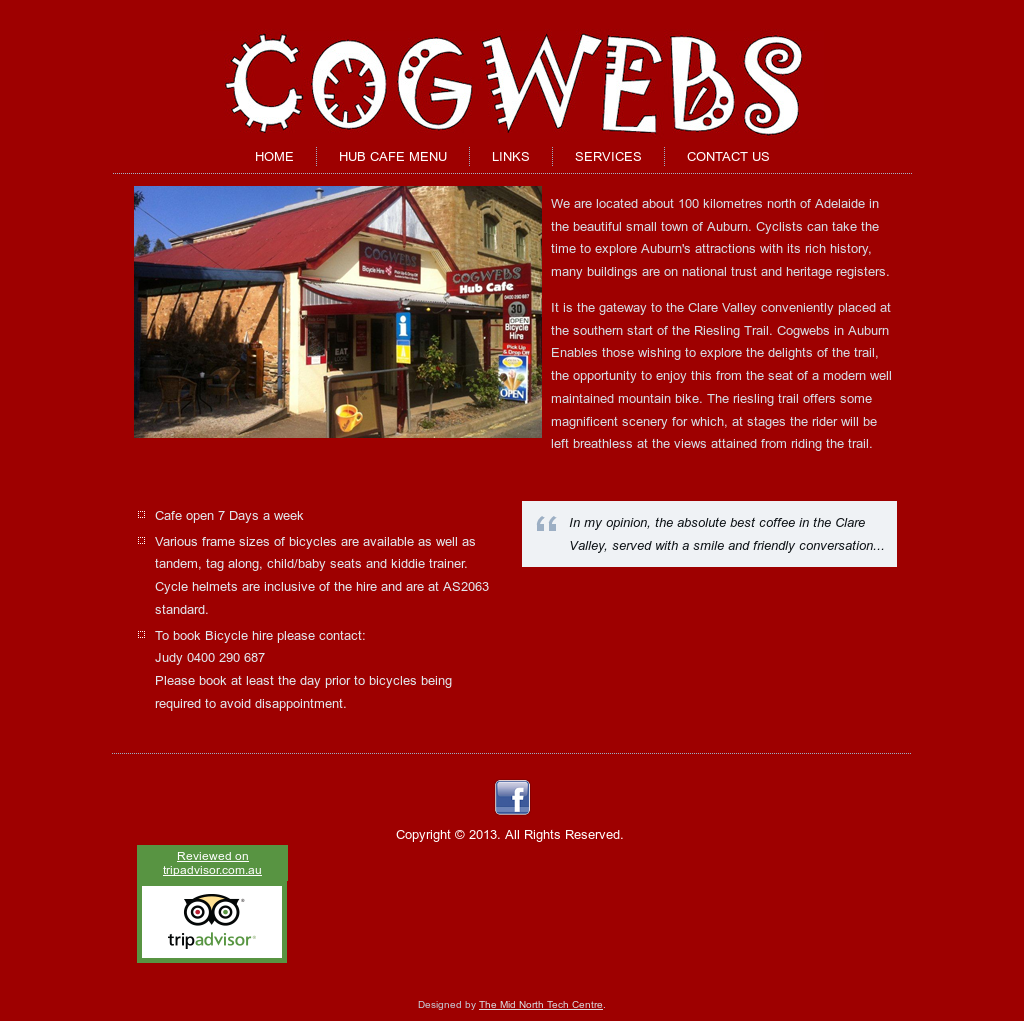 Cogwebs Hub Cafe Bicycle Hire Information Outlet Competitors
