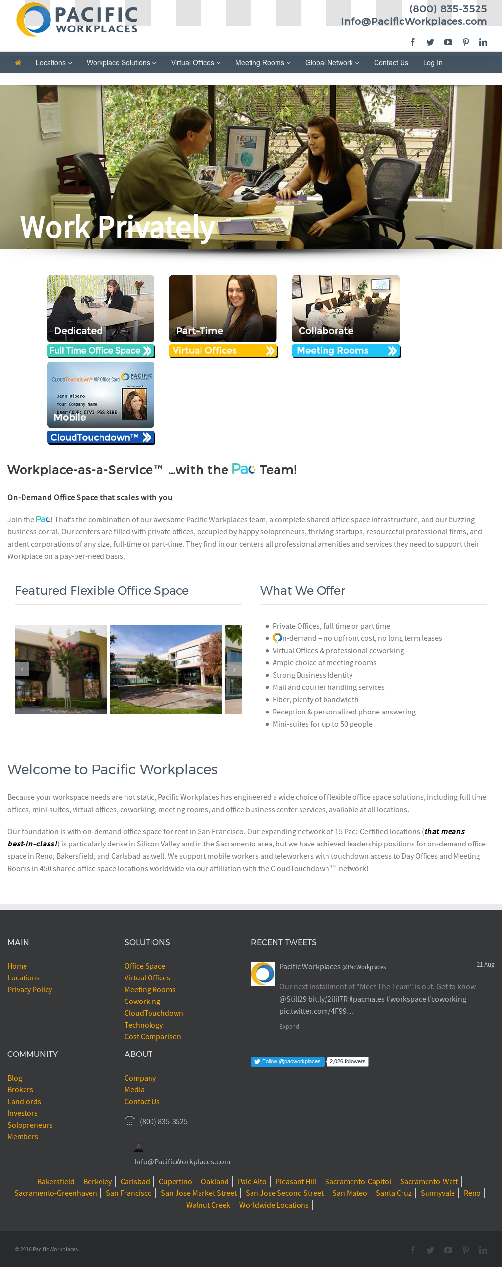 virtual office reno. Pacific Workplaces Website History Virtual Office Reno