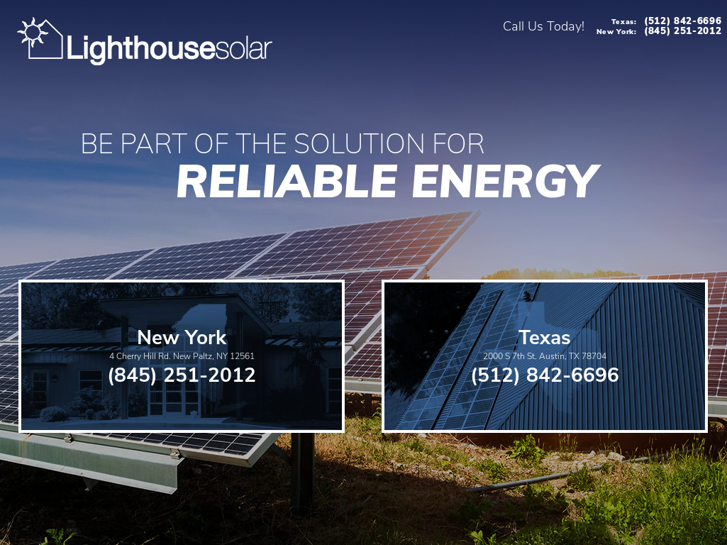 Lighthouse Solar S Website Screenshot On Sep 2017