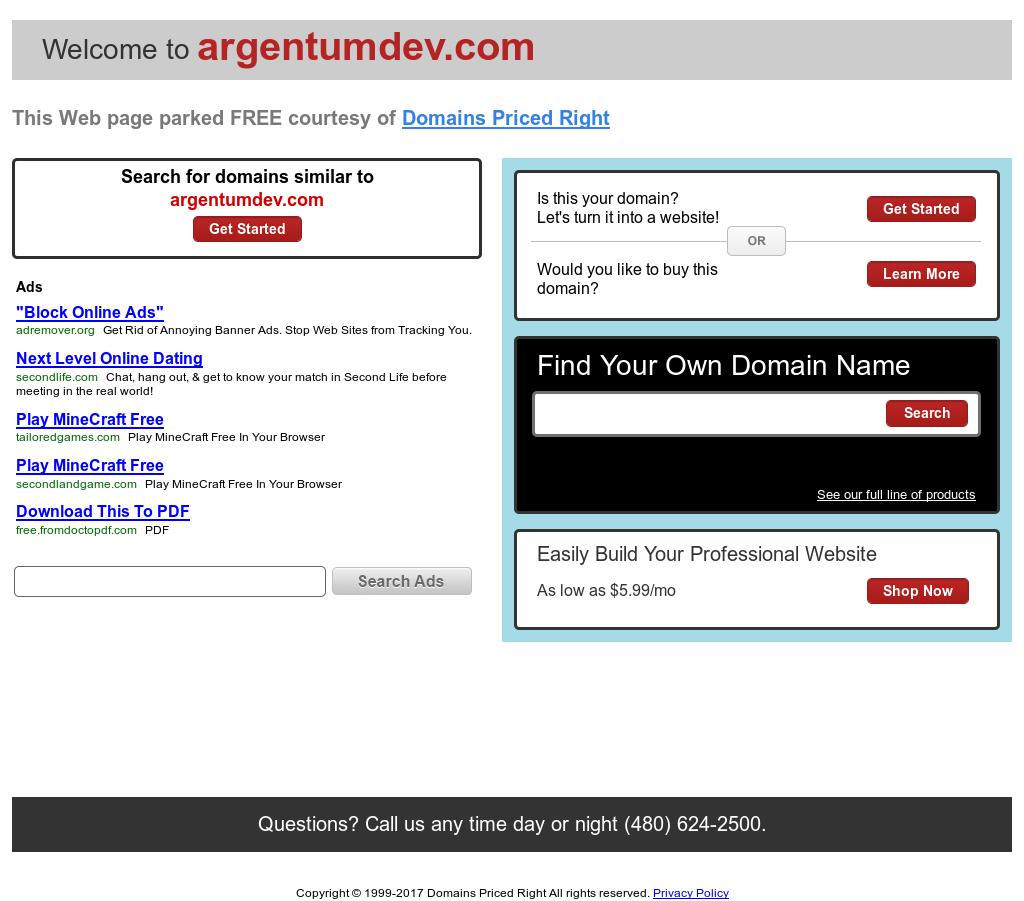 Argentum Development Company Competitors, Revenue and