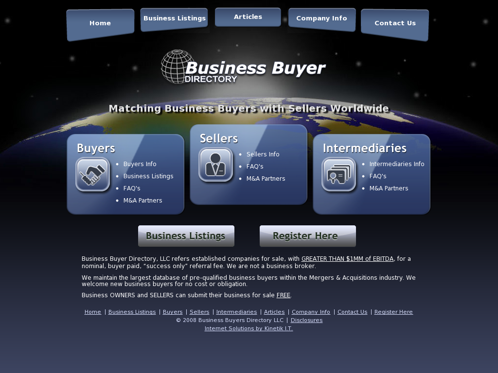 Business Buyer Directory Competitors, Revenue and Employees